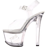White 18 cm TIPJAR-708-5 tip jar platform stripper high heel shoes