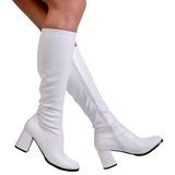 White Matte 8,5 cm GOGO-300 High Heeled Womens Boots for Men