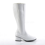 White Patent 5 cm FUNTASMA GOGO Women Knee Boots