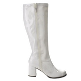 White Patent 7,5 cm Funtasma GOGO-303 Women Knee Boots