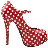 White Points 14,5 cm Burlesque TEEZE-08 Red Platform Pumps Shoes