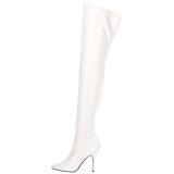 White Shiny 13 cm SEDUCE-3000 overknee high heel boots