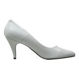 White Shiny 7,5 cm PUMP-420 Low Heeled Classic Pumps Shoes