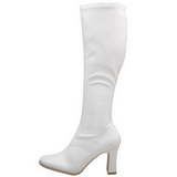 White Shiny 9,5 cm FUNTASMA KIKI-350 Women Knee Boots