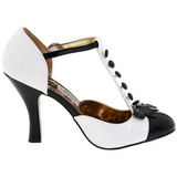 White Suede 10 cm SMITTEN-10 Rockabilly Pumps with low heels