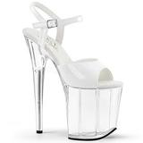 White Transparent 20 cm FLAMINGO-809 High Heels Platform