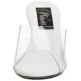 White Transparent 8 cm BELLE-301 High Women Mules Shoes for Men