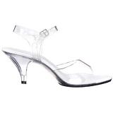 White Transparent 8 cm Pleaser BELLE-308 High Heels