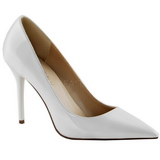 White Varnished 10 cm CLASSIQUE-20 Women Pumps Shoes Stiletto Heels