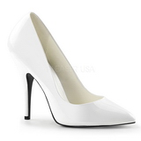 White Varnished 13 cm SEDUCE-420 pointed toe pumps high heels