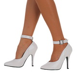 White Varnished 13 cm SEDUCE-431 Pumps with low heels