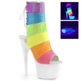 White glitter 18 cm ADORE-1018RBG Pole dancing ankle boots