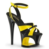 Yellow 18 cm Pleaser MOON-728 Platform High Heel Shoes