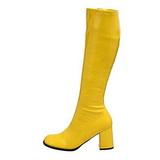 Yellow Patent 7,5 cm Funtasma GOGO-300 Women Knee Boots