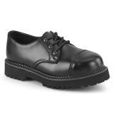 Äkta läder RIOT-03 demonia punk skor - unisex ståltå skor