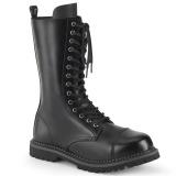 Äkta läder RIOT-14 ståltå stövlar - demonia militära stövlar