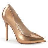 gold rose 13 cm AMUSE-20 Pleaser stiletto heel pumps
