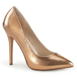 guldros 13 cm AMUSE-20 Pleaser pumps med stilettklack