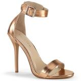 guldros 13 cm Pleaser AMUSE-10 högklackade sandaletter