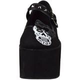 kranium duk 8 cm CLICK-02-3 goth platåskor lolita skor tjock sula