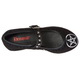 pentagram duk 8 cm CLICK-02-2 goth platåskor lolita skor tjock sula