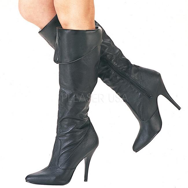 Pleaser VANITY-2013 högklackade stövlar i läder storlek 36 - 37