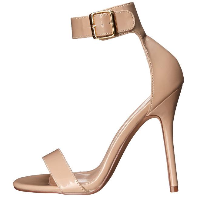 pleaser AMUSE-10 beige high heels sandaler storlek 37 - 38