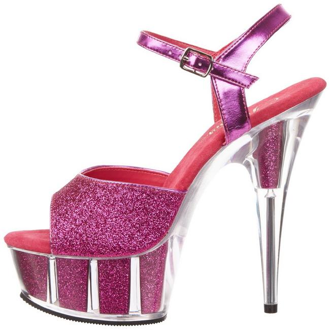 pleaser DELIGHT-G pink färgade high heels kvinnan storlek 35 - 36