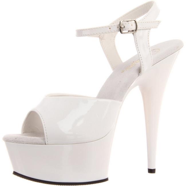 pleaser DELIGHT-609 vita high heels sverige storlek 39 - 40