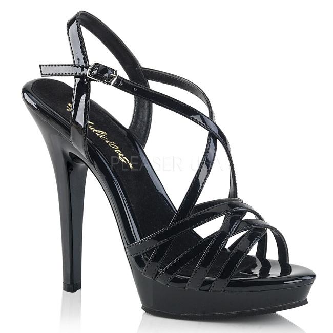 pleaser LIP-113 svarta sexiga high heels skor storlek 37 - 38