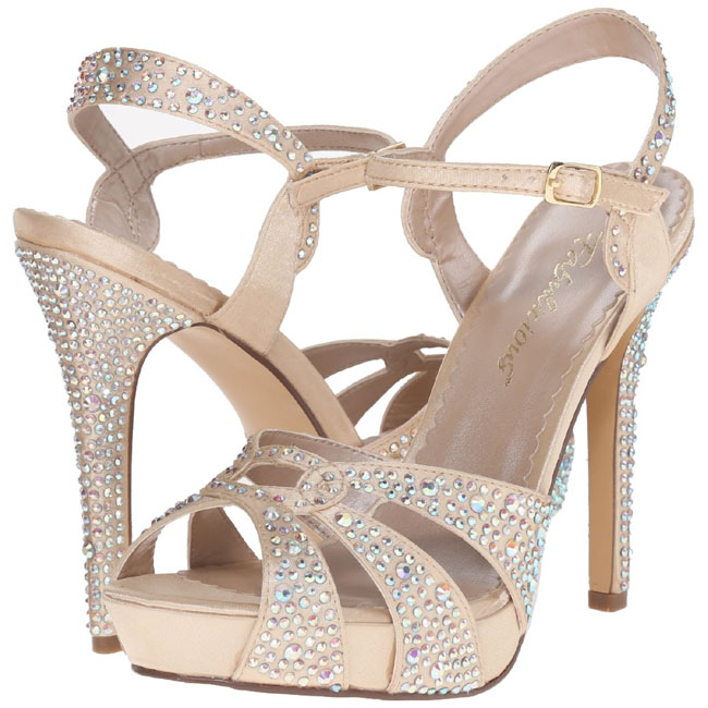 pleaser LUMINA-23 high heels skor beige storlek 35 - 36