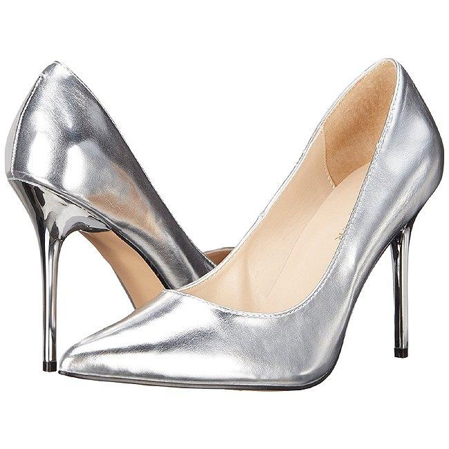 Pleaser CLASSIQUE silver stiletto pumps storlek 38 - 39