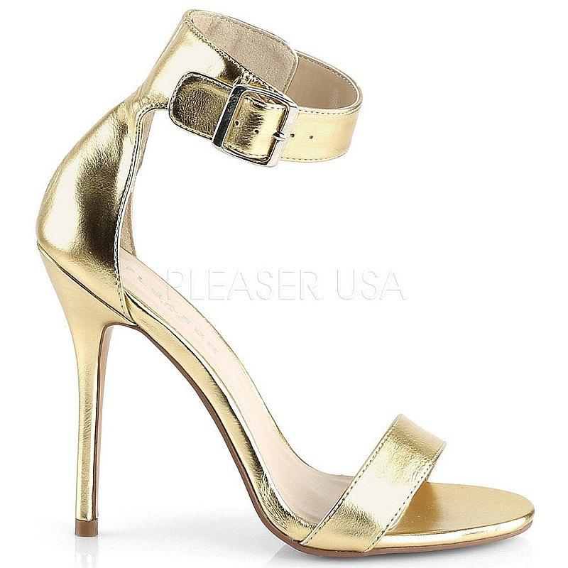 Pleaser AMUSE-10 guld fest sandaler med hög klack 36 - 37