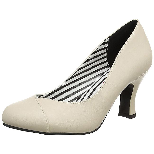 Pleaser JENNA-01 kvinnor skor för stora fötter i beige storlekar 44 - 45