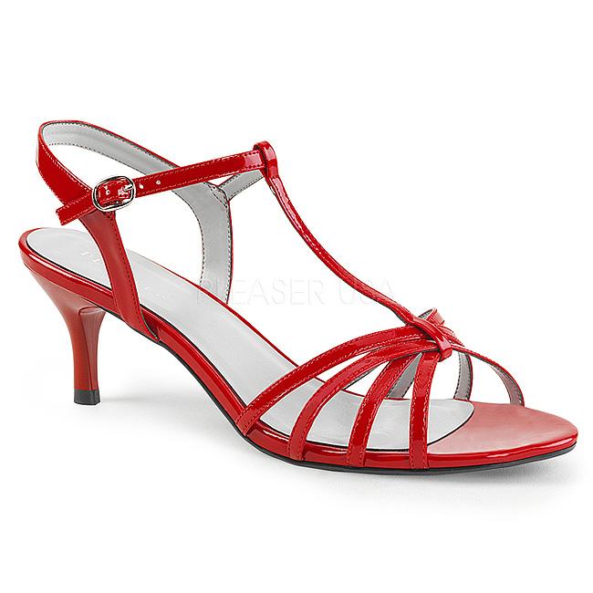 Pleaser KITTEN-06 svarta sandaler stora storlekar storlek 43 - 44
