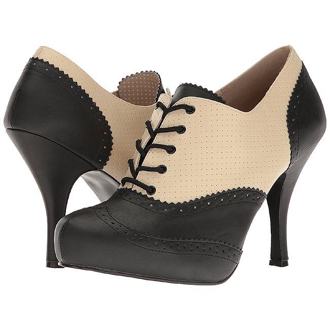 Pleaser PINUP-07 oxford skor stora storlekar i konstläder 44 - 45